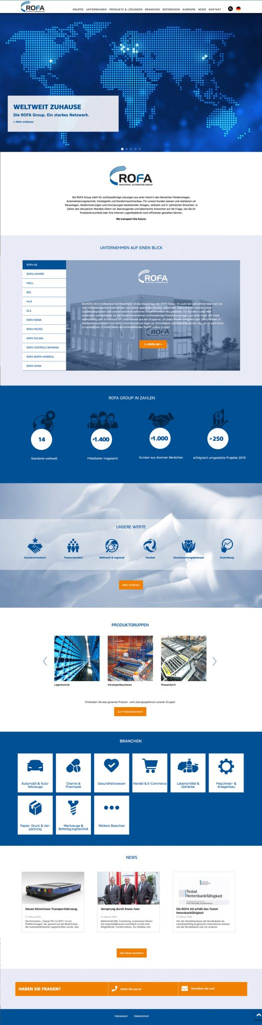 ROFA Group Corporate Website